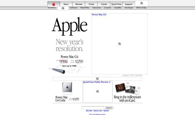 Apple.com Visual 2001