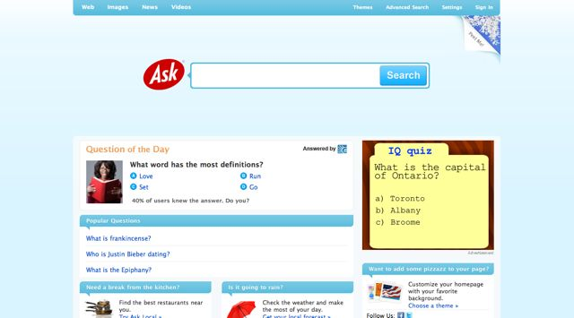Ask.com Visual 2001