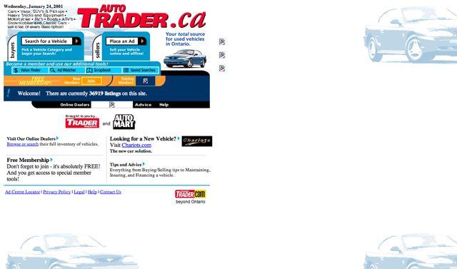Autotrader.ca Visual 2001