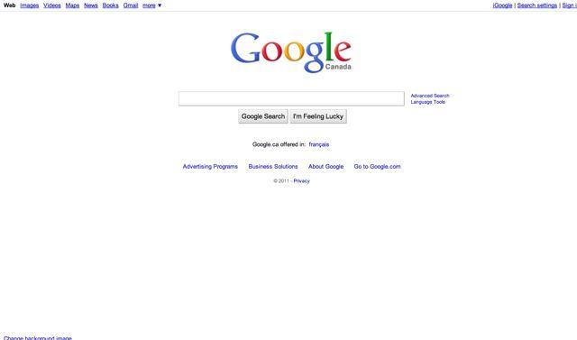 Google.ca Visual 2001
