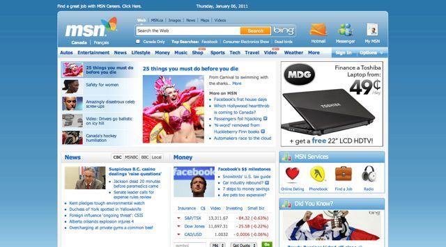 MSN.ca Visual 2011