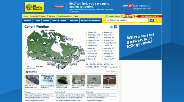TheWeatherNetwork.com Visual 2001