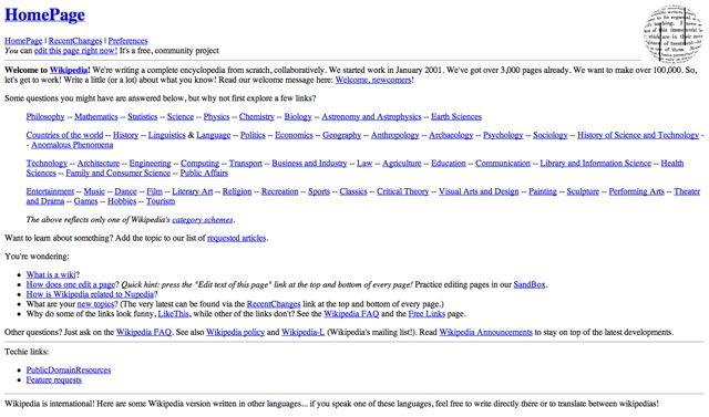 Wikipedia.com Visual 2001