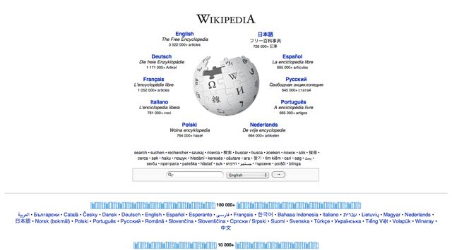 Wikipedia.com Visual 2001