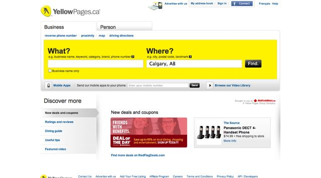 YellowPages.ca Visual 2001