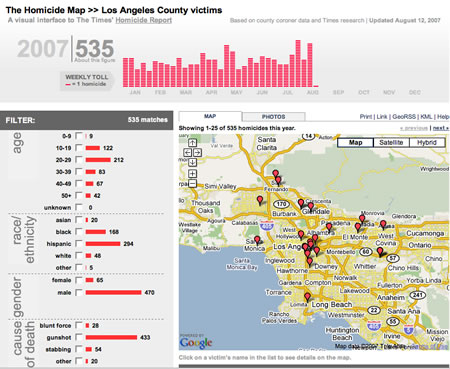 LA Times Homicide Report Map Mashup