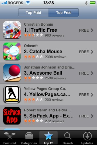 YellowPages.ca iPhone Application - #4 Top Download in Canada