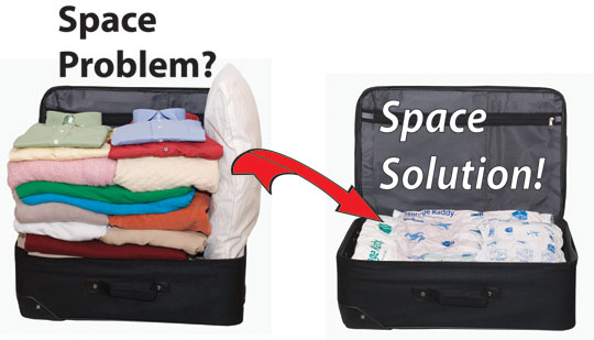 Space Saver Bugs for Travelling