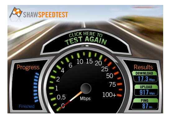 Shaw Internet Speed Test
