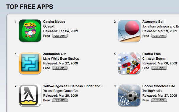 iPhone Business Directory Application