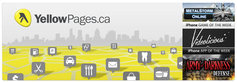 YellowPages.ca Application Featured in the iTunes Store