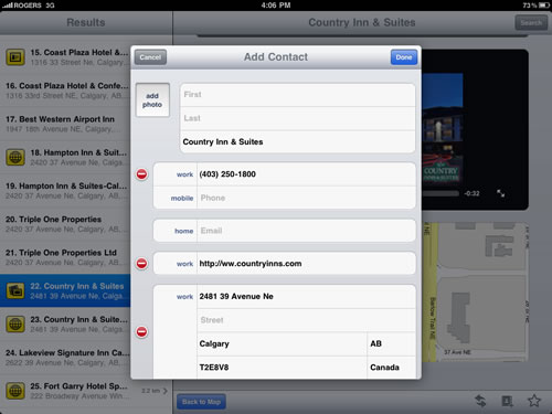 Find a Canadian Business on your iPad