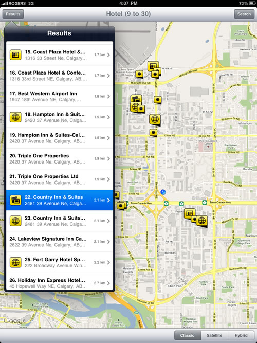 iPad Application Search Results for Calgary