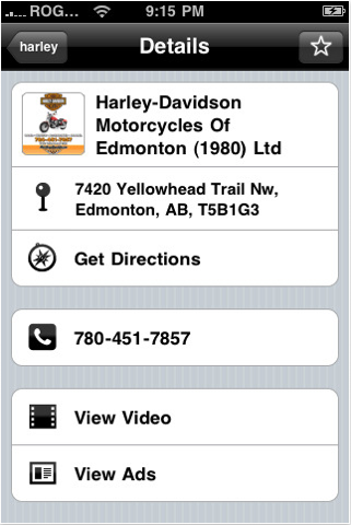YellowPages.ca Detailed Merchant Page on Mobile
