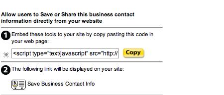 Save and Share Widget Javascript Code