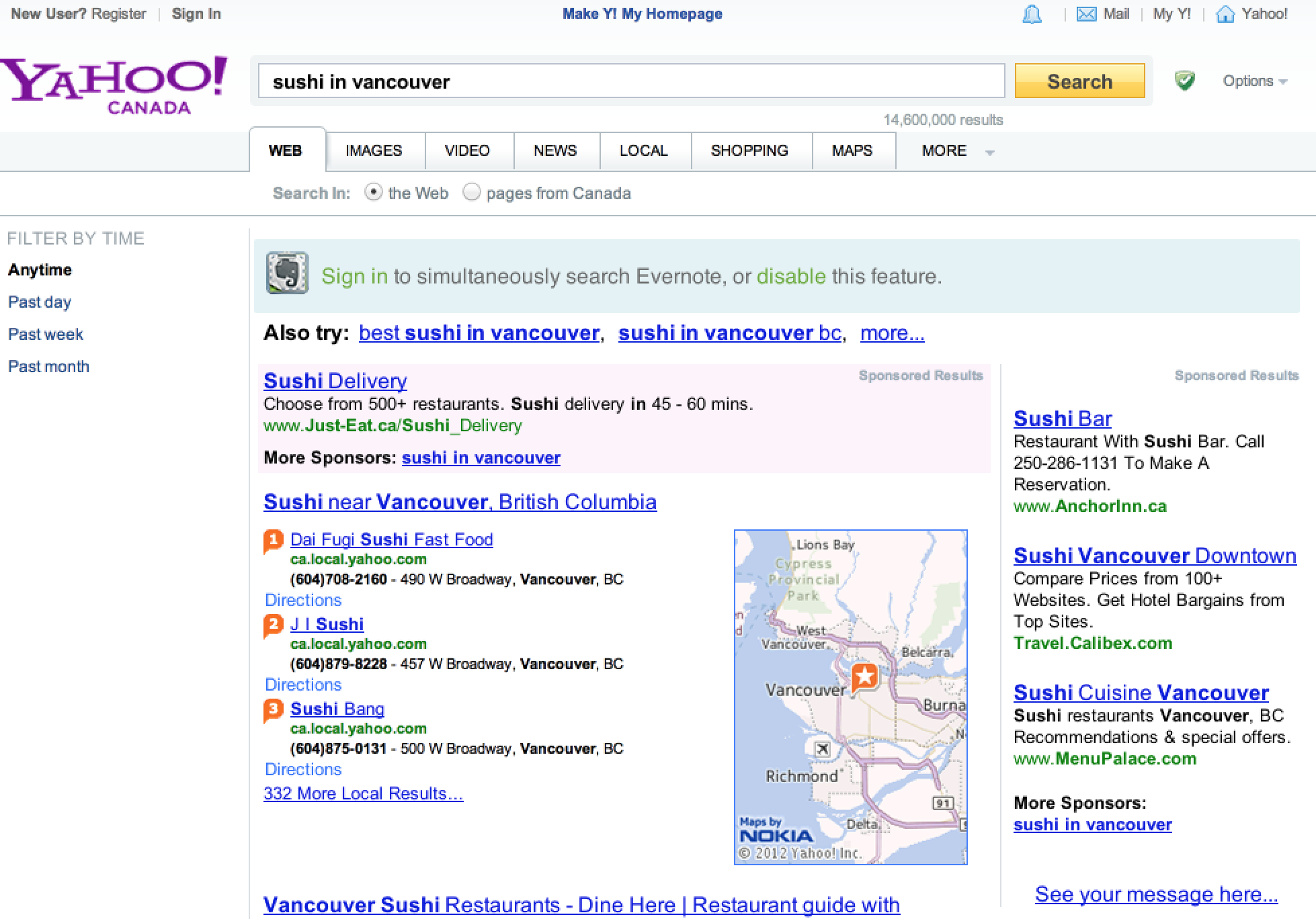 Yahoo canada business finder