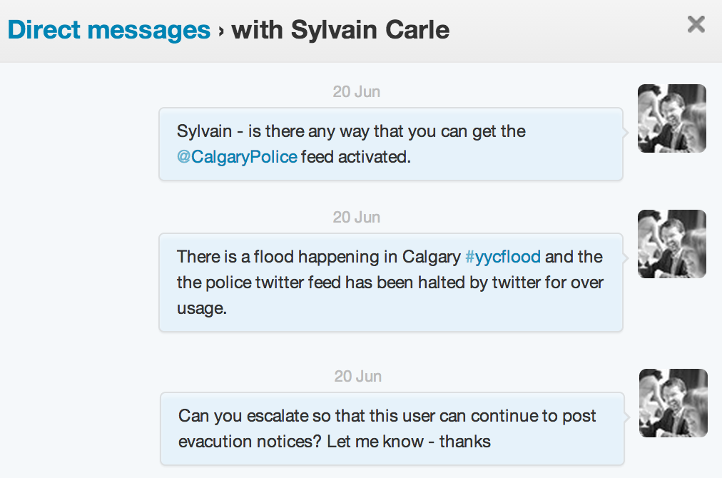 Direct twitter message with Sylvain Carle - Twitter
