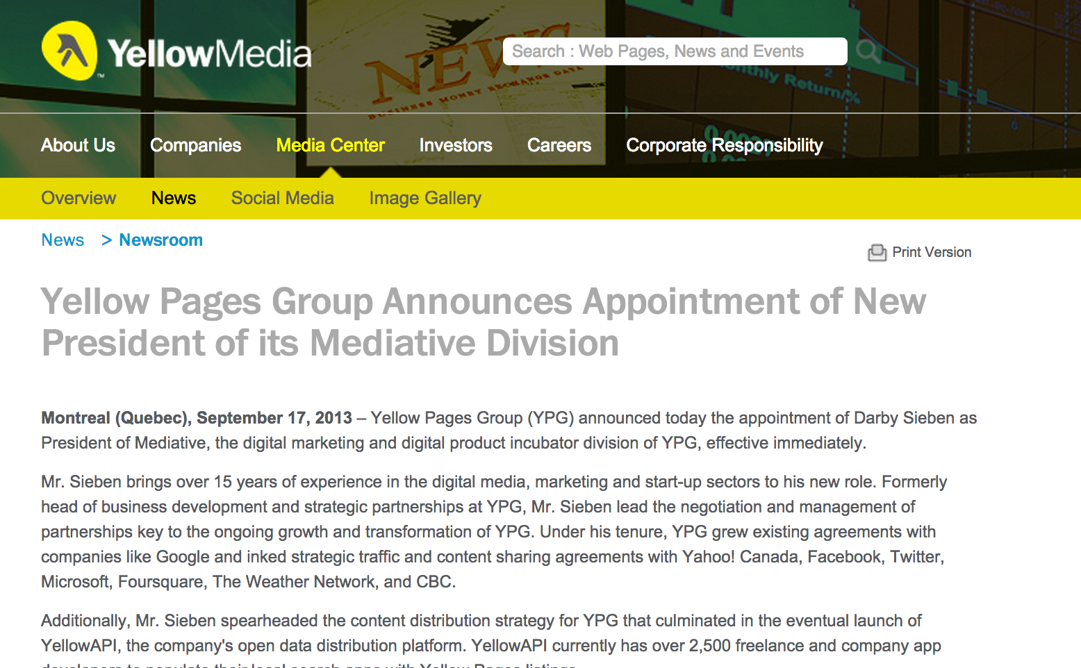 Yellow Pages | Darby Sieben, Digital VP, Agency President, Board ...